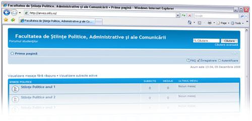 Facultatea de Ştiinte politice, administrative şi ale comunicării - forumul studenţilor